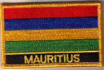 Mauritius Embroidered Flag Patch, style 09.